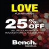 Coupon for: Bench Valentine's day promotion