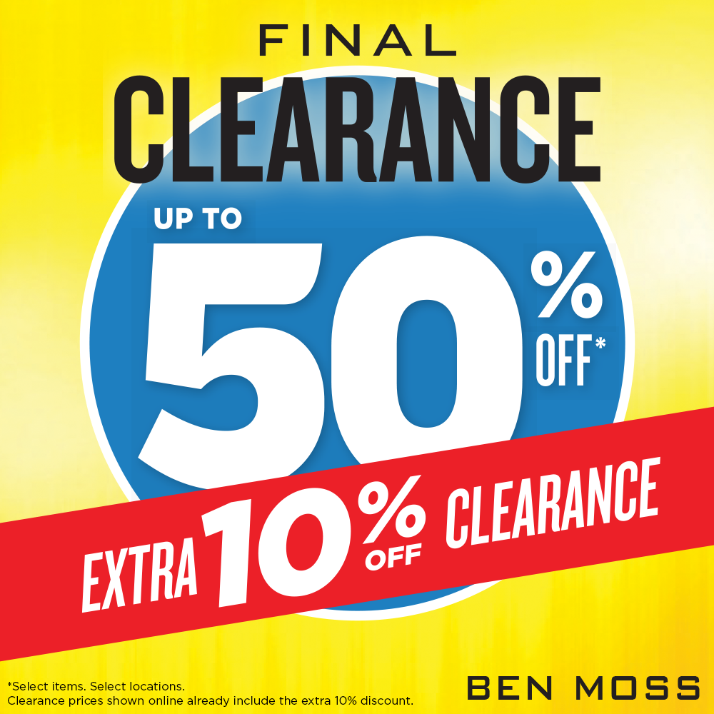 Coupon for: FINAL CLEARANCE - Ben Moss - Save up to 50%