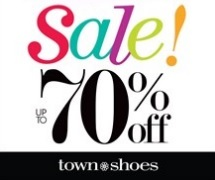 Coupon for: Town Shoes, West Edmonton Mall, Sale is on Sale