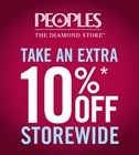 Coupon for: Peoples Jewellers, additional 10% off