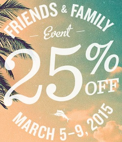 Coupon for: Tommy Bahama, Friends & Family Sale