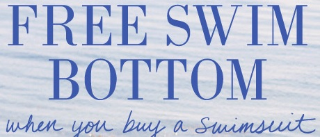 Coupon for: aerie, Free Swim Bottom