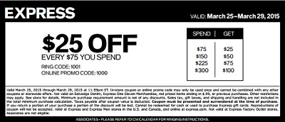 Coupon for: Express, Sale coupon