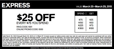 Coupon for: Express, Sale coupon