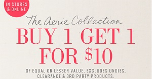 Coupon for: aerie, another BOGO Sale