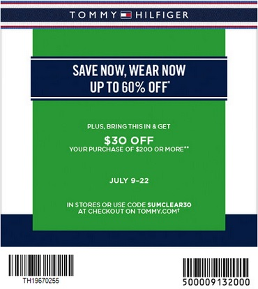 Coupon for: Tommy Hilfiger Canada & Savings up to 60% off + Sale coupon