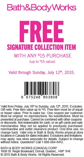 Coupon for: Bath & Body Works Canada, Special offer