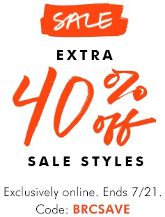 Coupon for: Enjoy extra savings from Banana Republic Canada