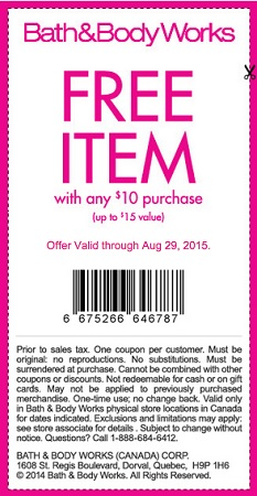 Coupon for: Save with coupon at Bath&Body Works Canada
