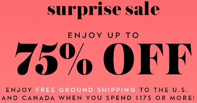Coupon for: Enjoy Surprise sale from Kate Spade Canada