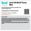 Coupon for: Bonus miles wirh your purchase at Rexall Pharma Plus Canada
