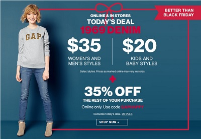 Coupon for: Gap Canada, Better offer than Black Friday Deals