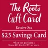 Coupon for: Holiday Sale & Gift Card for free available at Roots Canada