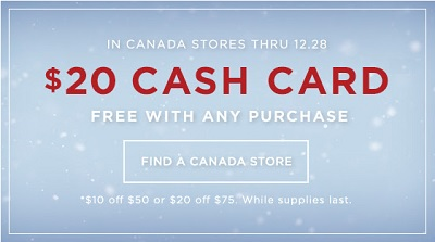 Coupon for: Get Cash Card for free at American Eagle Outfitters Canada