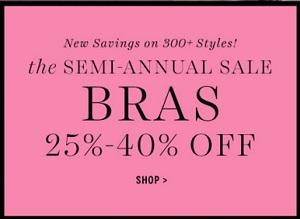 Coupon for: Semi-Annual Sale at Victoria's Secret Canada