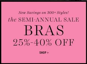 Coupon for: Semi-Annual Sale at Victoria's Secret Canada