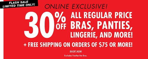 Coupon for: Flash sale at La senza Canada online