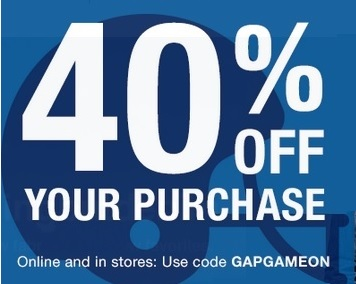 Coupon for: Get discount on purchase at Gap Canada locations