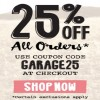 Coupon for: Garage Canada Online Coupon Code