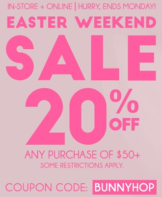 Coupon for: Easter Weekend Sale at Ardene Canada