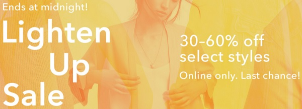 Coupon for: Last day to save at Aritzia Canada online
