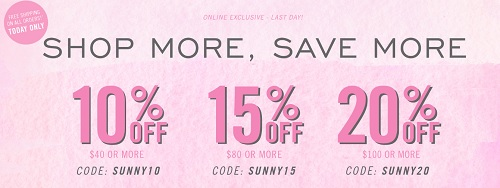 Coupon for: Forever 21 Canada: Shop more, save more money