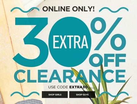 Coupon for: Clearance event at Aéropostale Canada online