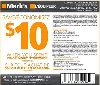 Coupon for: Mark's Canada Offer: Save on shorts and capris