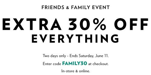 Coupon for: Friends & Family Event at Reitmans Canada