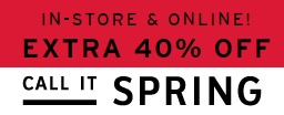 Coupon for: Save extra money at Call It Spring Canada