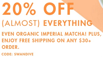 Coupon for: Sitewide savings at Teavana Canada online