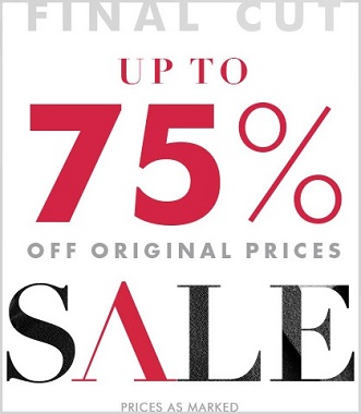 Coupon for: Final Cut Sale from Banana Republic Canada