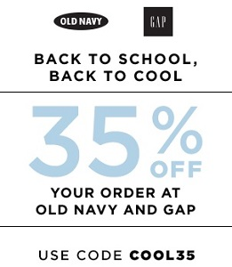 Coupon for: Shop at Gap & Old Navy Canada online and save