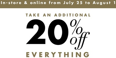 Coupon for: Melanie Lyne Canada extra savings