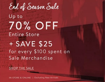 Coupon for: Bench Canada: End Of Season Sale 2016
