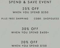 Coupon for: Spend & Save Event at Guess Canada