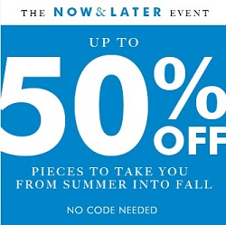 Coupon for: The Now & Later Event at Banana Republic Canada