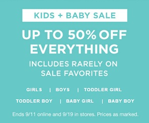 Coupon for: Kids & Baby Sale at Gap Canada