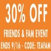 Coupon for: Friends & Family Event at Teavana Canada