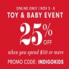 Coupon for: Toy & Baby Event is on at Indigo Canada