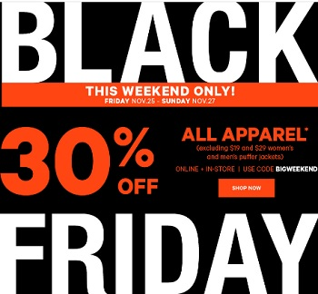 Coupon for: Shop Joe Fresh Canada Black Friday Weekend Sale