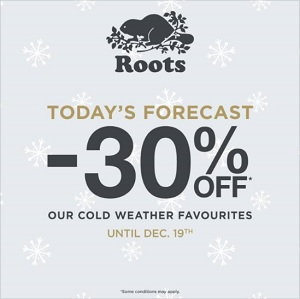 Coupon for: Shop a special sale from Roots Canada
