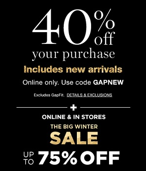 Coupon for: Shop Gap Canada Winter Sale