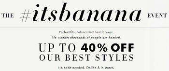 Coupon for: Shop The #itsbanana Event right now