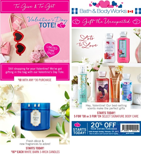Coupon for: Shop Valentine's Day Sale from Bath & Body Works Canada