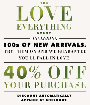 Coupon for: Banana Republic Canada Deal: The Love Everything Event