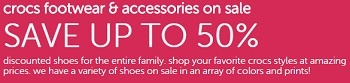 Coupon for: Get discounts up to 50% thanks to Crocs Canada