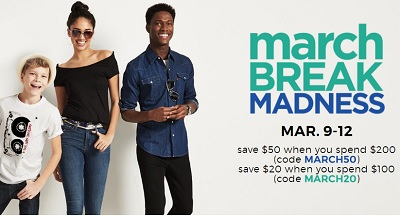 Coupon for: Sears Canada March Break Madness Sale is going on right now