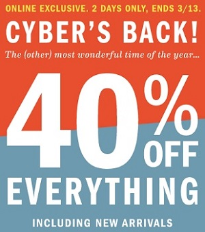 Coupon for: 40% off at Old Navy Canada online