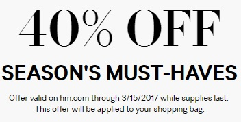 Coupon for: Season's Must Haves with discount at H&M Canada
